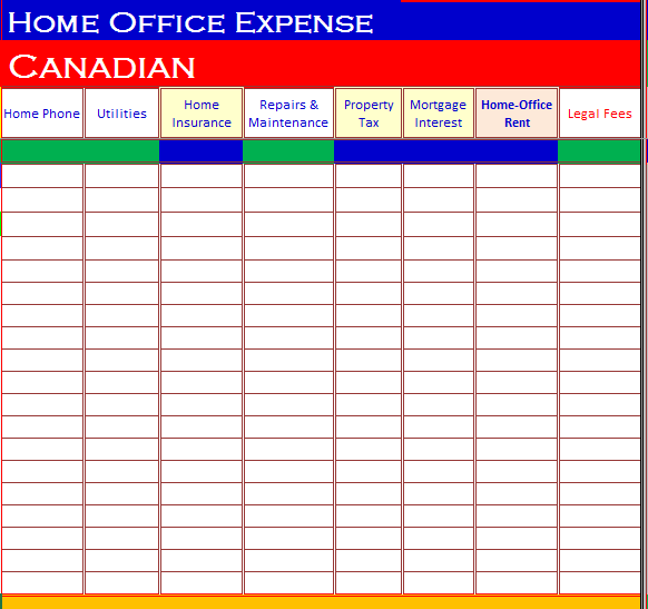 Home Office Deduction Worksheet Excel 033 - Home Office Deduction Worksheet Excel